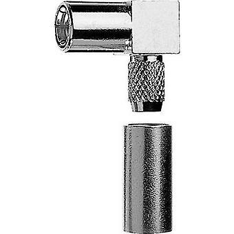 SMB connector Socket, right angle 50 Ω Telegärtner J01161A0668 1 pc(s)
