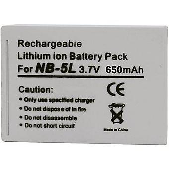 Camera battery Conrad energy replaces original battery NB-5L 3.7 V