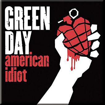 Green Day Fridge Magnet American Idiot new Official 76mm x 76mm