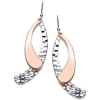 Cavendish French Curve Drop Earrings - Silver/Copper