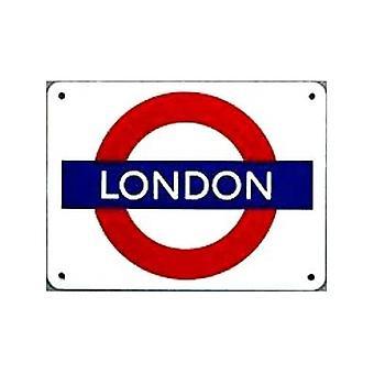 'London'' London Underground Roundel Small Enamel Sign