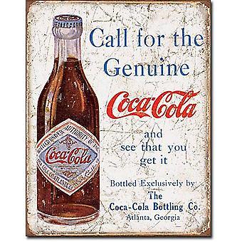 Coca Cola-Aufruf für die echte... Blechschild