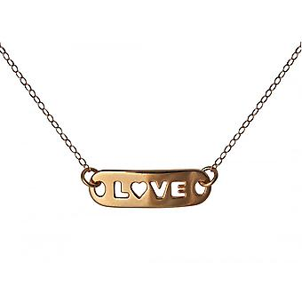 Gemshine - Damen - Halskette - WISHES - LOVE - Rose Gold - 48 cm