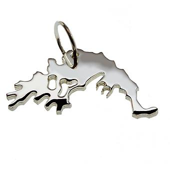 Trailer map Greece pendant in solid 925 Silver
