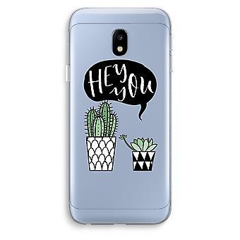 Samsung Galaxy J3 (2017) Transparent Case (Soft) - Hey you cactus