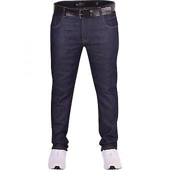 Crosshatch Mens High Quality Jeans By Crosshatch Jet Black Straight Leg Denim With Free Black Belt