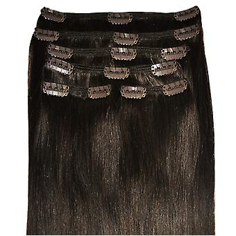#2 Intense Dark Brunette - Clip-in Hair Extensions - Full Head