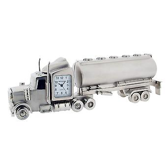 Gift Time Products Small Tanker Lorry Mini Clock - Silver