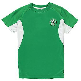 Source Lab Kids Boys Celtic FC Poly T Shirt Junior Crew Neck Tee Top Short