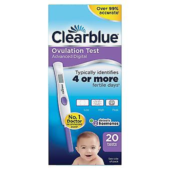 Clearblue Dual Hormone Indicator Digital Ovulation Test Stick, 20 Sticks