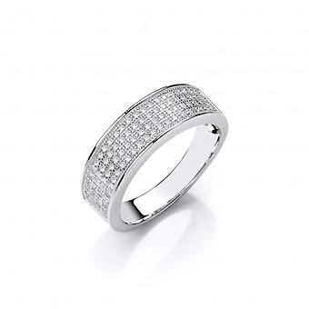 Cavendish French Sterling Silver CZ Wedding Band Style Ring