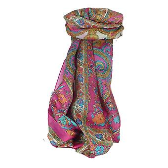 Mulberry Silk Traditional Long Scarf Dhar Carnation by Pashmina & Silk