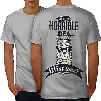 Horrible Idea Men GreyT-shirt Back | Wellcoda