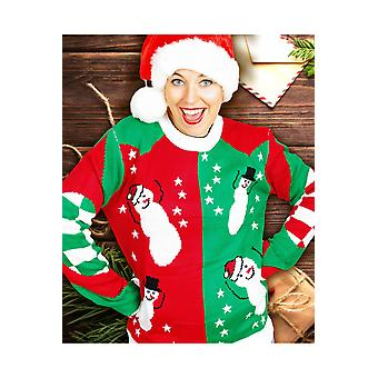 Men costumes  unisex funny Christmas sweater with snowmen