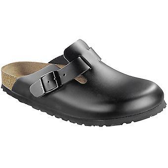 Zuecos Birkenstock para mujer Boston cuero vacaciones resbalón en sandalias casuales