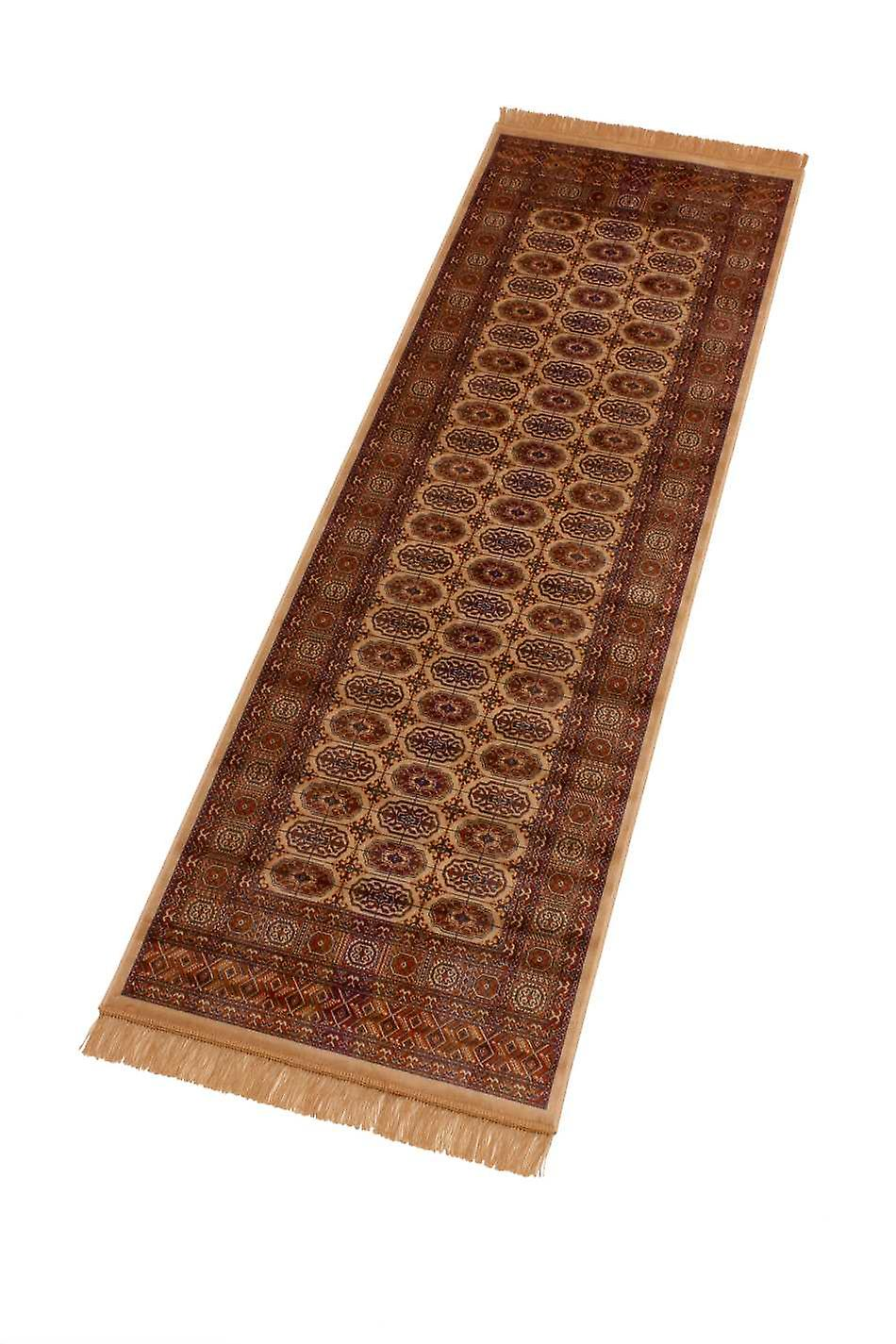 Persian Bokhara Artsilk Faux Silk Effect Hall Runner Rugs 8438/4