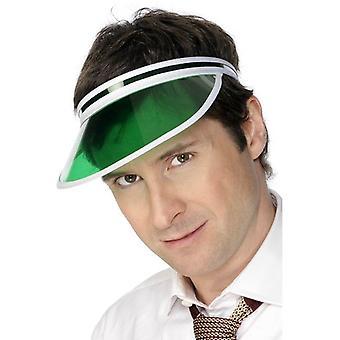 Green Poker Visor.  One Size