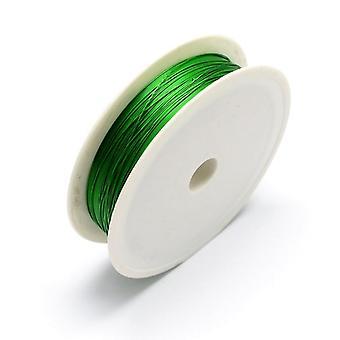 1 x Zielona niklowanego żelaza 0.4 mm x 12 m okrągły drut Craft Spool HA16745
