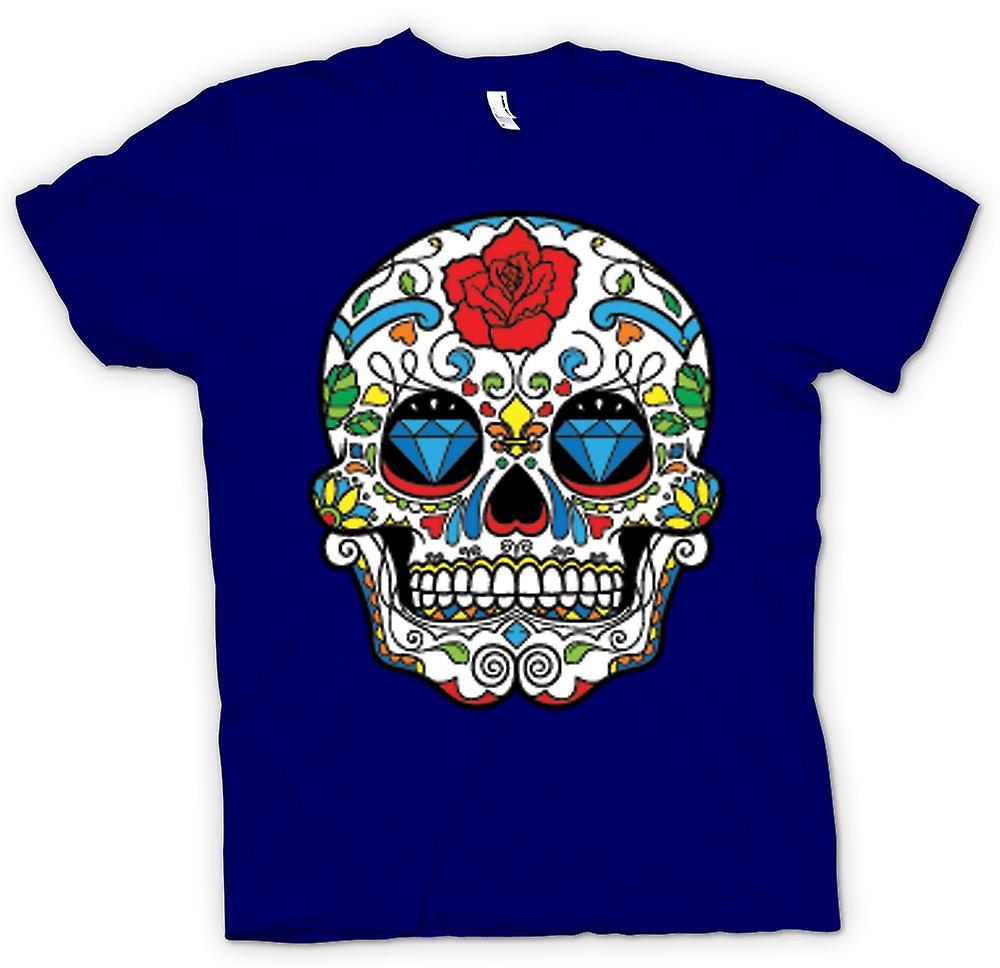 Mens t-shirt - cranio messicano dello zucchero - Dia De Los Muertos