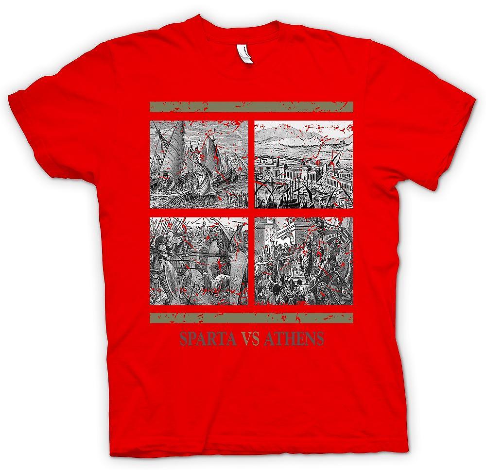 Mens T-shirt - Sparta Vs Athen - alte Geschichte