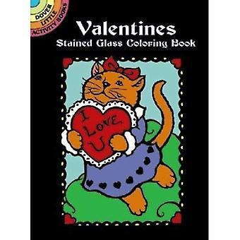 Valentines gebeizt Glas Färbung B