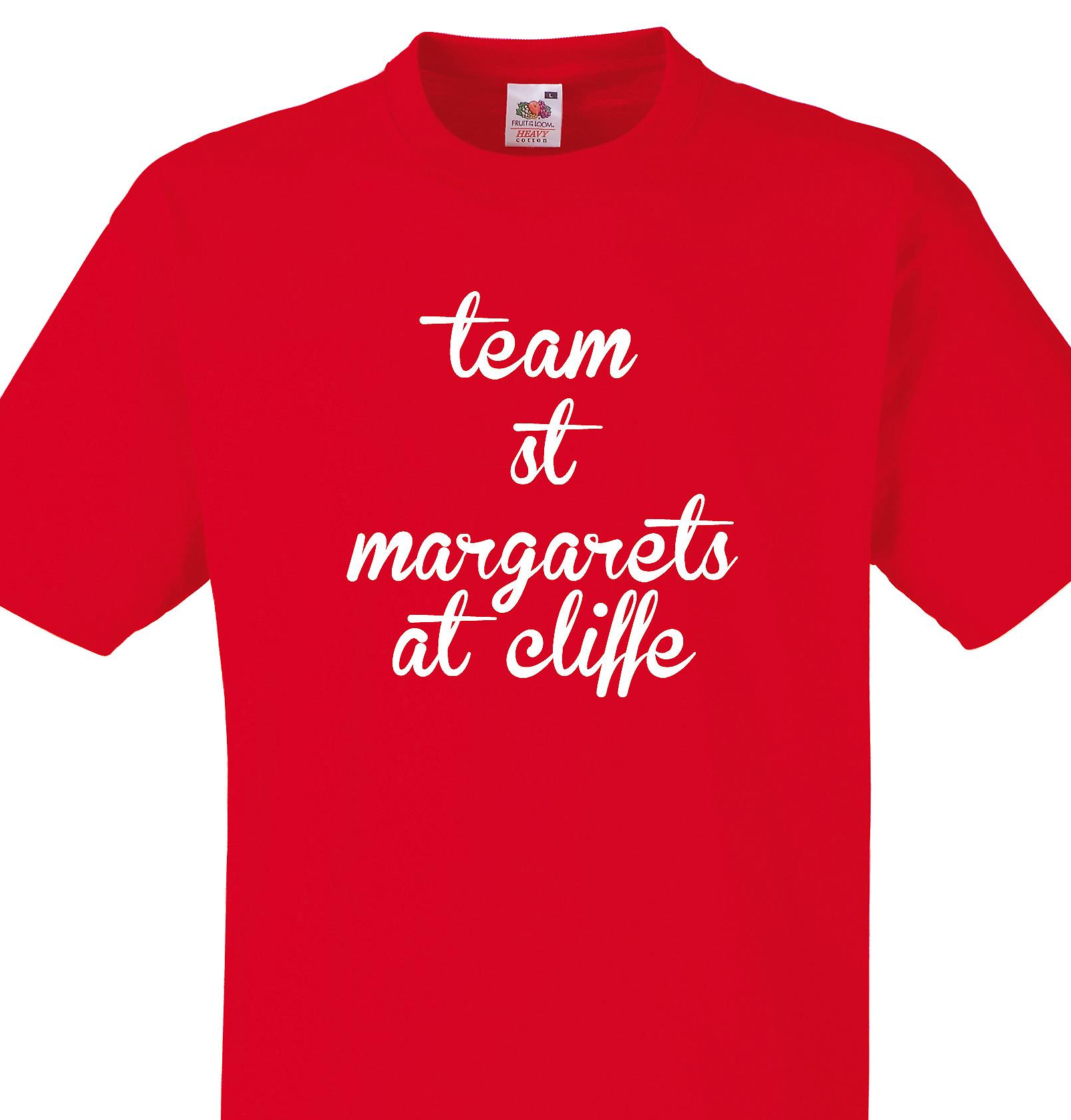 Team St margarets at cliffe Red T shirt