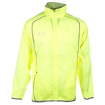 Precision Running  Mens Adults Water Repellant Hi-Viz Jacket Coat Fluo Yellow