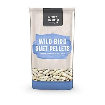 Natures Market 1kg (2.2 lbs) Bag of Suet Pellets Feed Wild Bird Food