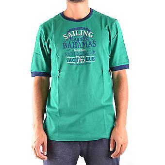 Paul & Shark Green Cotton T-shirt