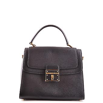 Dolce E Gabbana schwarzes Lederhandtasche
