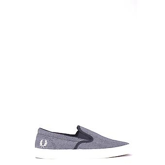 Fred Perry Grey Fabric Slip On Sneakers