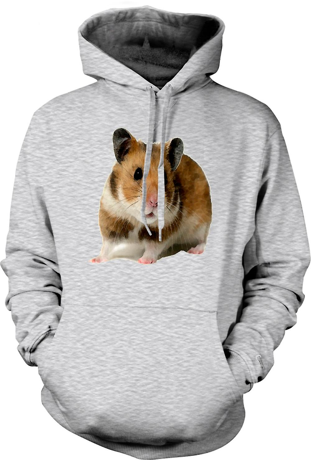 Mens Hoodie -  Hamster - Pet Animal