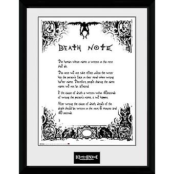 Death Note Death Note indrammet Collector Print 40x30cm