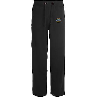2 PARA 2e Parachute Regiment Wings - Vétéran - Licensed British Army Embroidered Open Hem Sweatpants / Jogging Bottoms