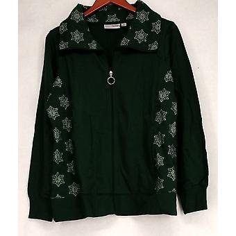 Sport Savvy Embroidered Zip Front w/ Pockets Green Jacket A92622