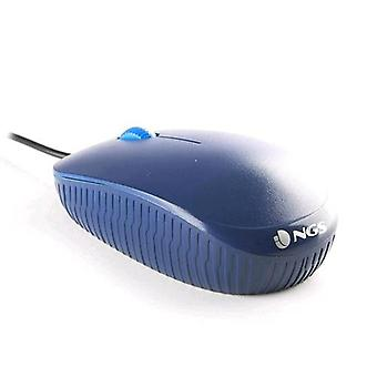 Ngs optical mouse usb 1000dpi 3 buttons blue