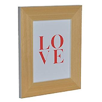 GAD Wood Picture Holder With White Spine And  Love  Sheet 19X24X, 3 Cm