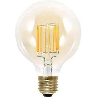 LED (monochrome) Segula 230 V E27 6 W = 30 W Gold EEC: A Globe (Ø x L) 95 mm x 130 mm dimmable, Filament 1 pc(s)