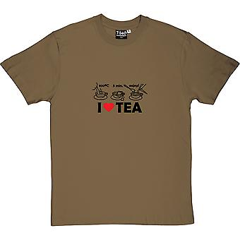 Tea Making Diagram - I Love Tea Men's T-Shirt