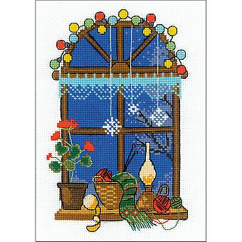 Winter Window Counted Cross Stitch Kit-6