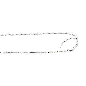 10 k witgoud verstelbare Sparkle Chain ketting - 2.6 gram - 22 Inch