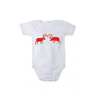 T-shirt with print baby Bodysuit body Christmas Reindeer gift