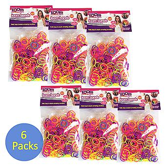 Friendship Loom: Loom Bands Neon (Six Packs)