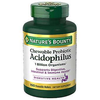 Nature's Bounty Chewable Acidophilus Strawberry Flavor 60 Chewable Tablets (Dieet)