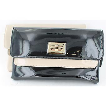 Ladies Clarks Smart Clutch Bag Mini Kimono Black Combi