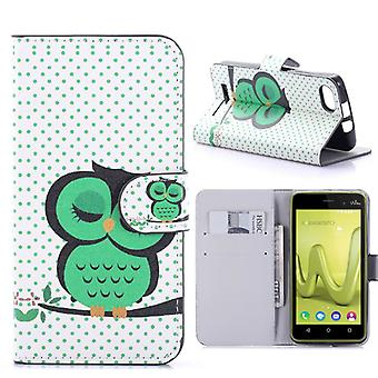 Bag wallet book pattern 41-to WIKO Lenny 3