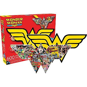 Wonder Woman shaped 600 piece double sided jigsaw puzzle 840mm x 360mm (nm)