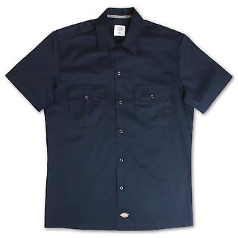 Dickies Slim Fit Short Sleeve Work Shirt Dark Navy
