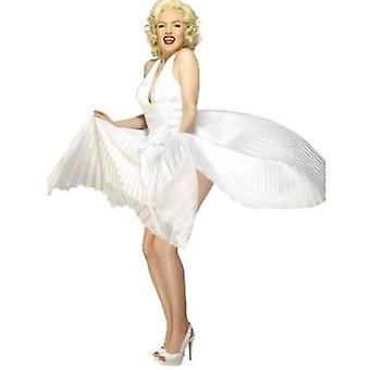 Smiffys Marilyn Monroe Halterneck Dress White (Kostüme)