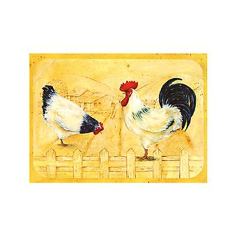 Tuftop 30cm x 22cm Small Worktop Saver, Gallo Rooster, Textured